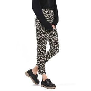 Topshop leopard print pants skinny cigeratte